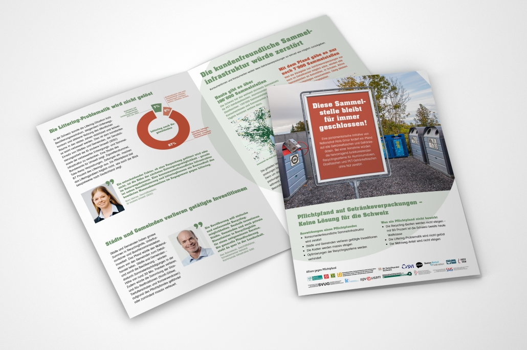 Inhalt Flyer Swiss Recycling